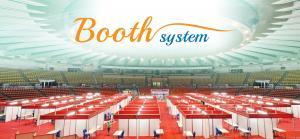 บูธแสดงสินค้า โครงบูธ บูธเปล่า บูธอลูมิเนียม Booth System บูธ คูหาแสดงสินค้า บูธสำเร็จรูปบูธท่องเที่ยว บูธสินค้า บูธจัดหางาน Job fair งานสัมมนา งานนิทรรศการ บูธขนาด 1×2 เมตร, บูธขนาด 2×2 เมตร,บูธขนาด 2×3 เมตร,บูธขนาด 3×3 เมตร